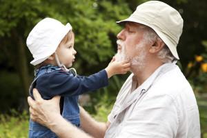 Toddler and Grandpa