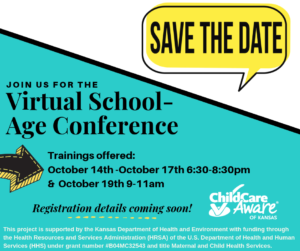Save the Date: Virtual School-Age Conference